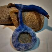 Blue sticks & Stones brooch