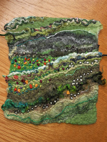 """Green pasture approx. 7"""" x7""""  $175"""