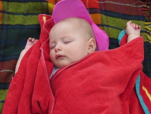Sleeping at the Christmas picnic