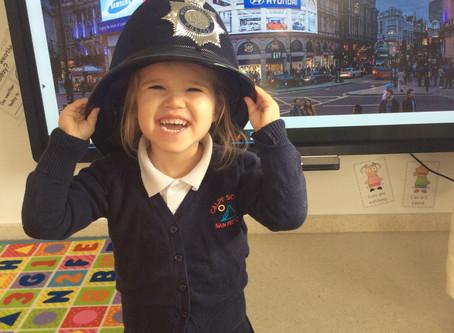 A Policeman Visits the Nursery