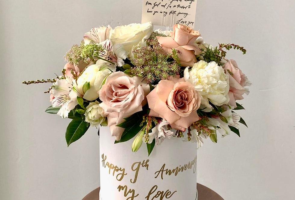 Bespoke Elegant Bloom Box | 185 AUD