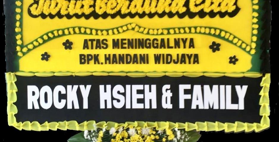 Customizable Flower Board Yellow-Black | 450,000 IDR