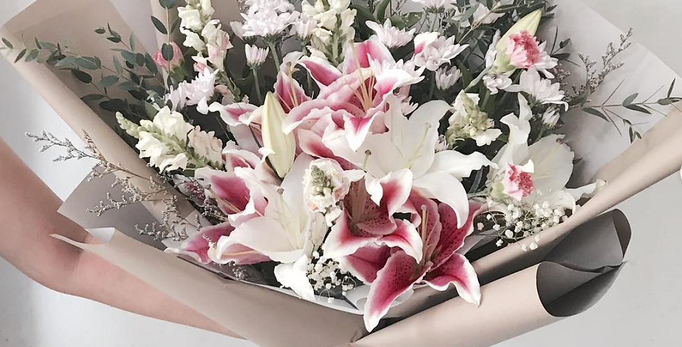 Pink Lily Bouquet | 65 AUD