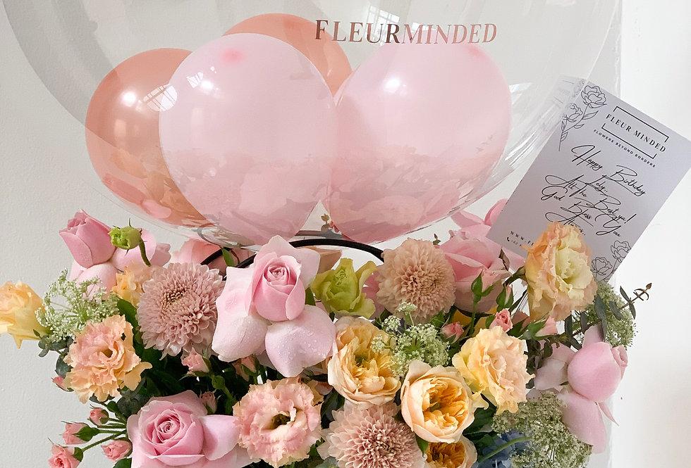 Pastel Pink-Peach Balloon Tote | 90 AUD