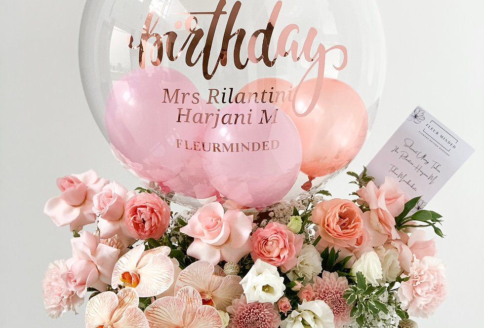 Grand Pastel Balloon Bloom Box | 150 AUD