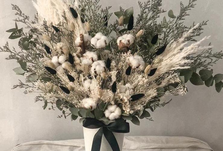 White Forrest Cotton Vase | 2,750,000 IDR