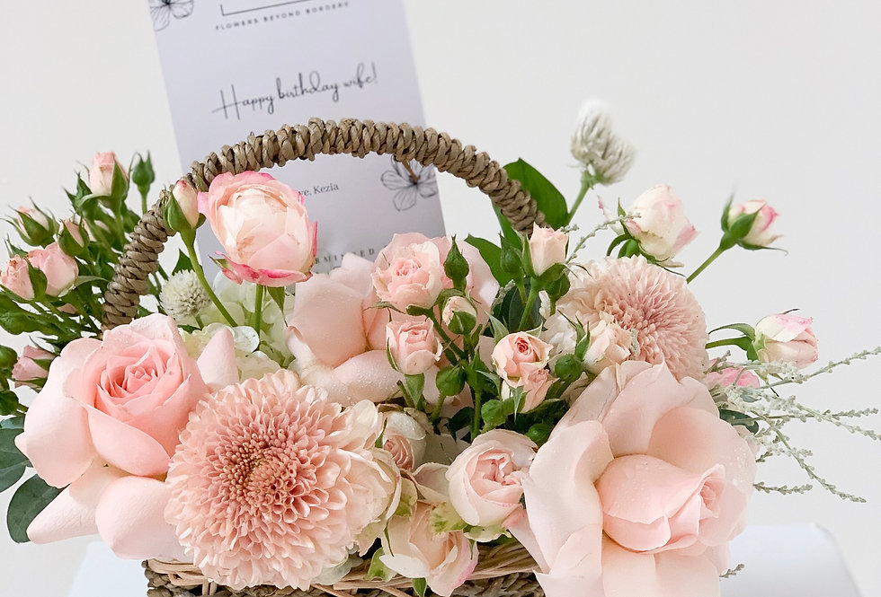 Pastel Pink Petite Basket | 45 AUD