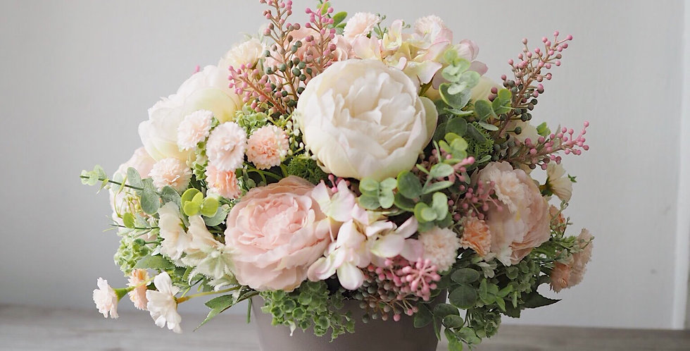 Artificial Blush Arrangement | 550,000 IDR