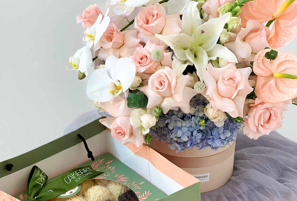 White Orchid-Pastel Blooms + Cake Art | 130 AUD