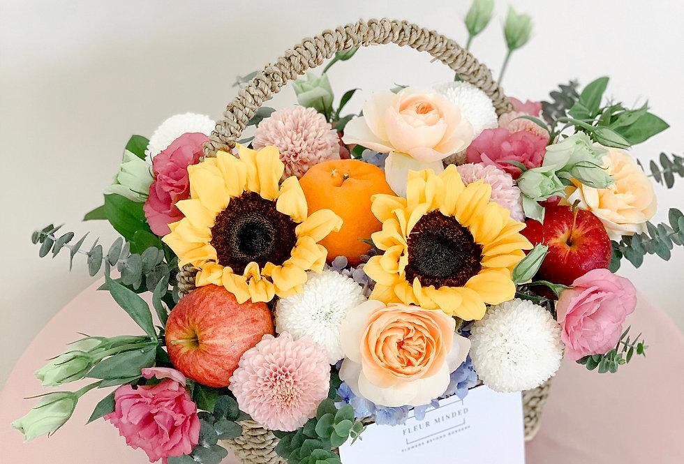 Vibrant Fleur-Fruit Basket | 850,000 IDR