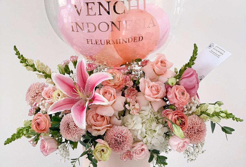 Standard Pastel Balloon Bloom Box | 125 AUD