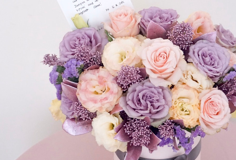 Purple Petite Bloom Box | 650,000 IDR