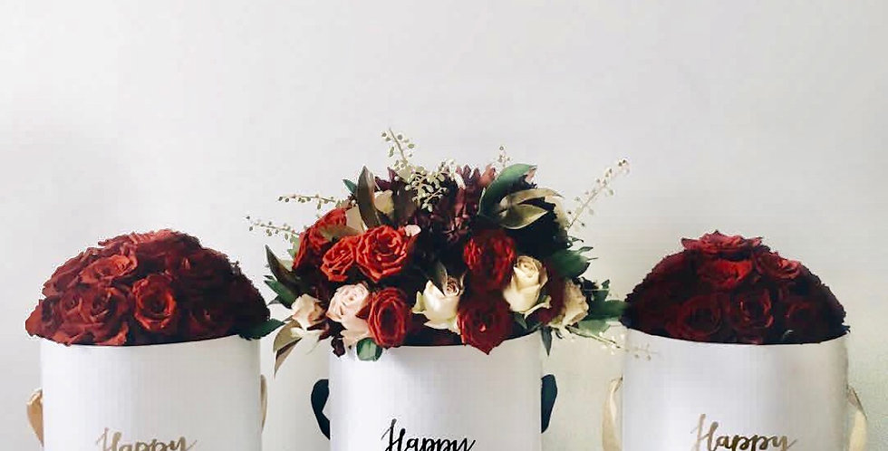 Classic Red Rose Hat Box | 160 AUD