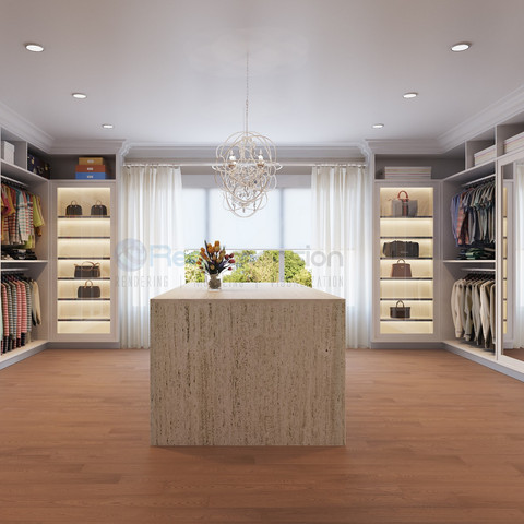 3D Luxury Walk in Closet