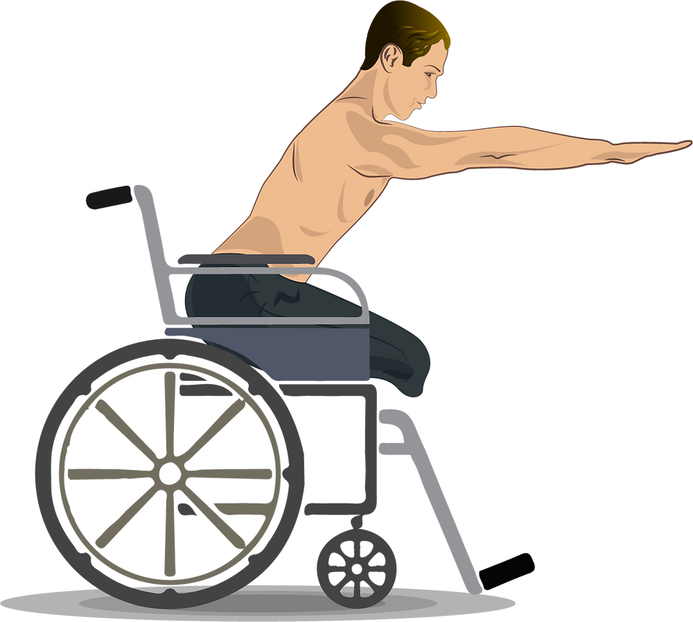 Sketch of a man in locked wheel while practicing yoga poses