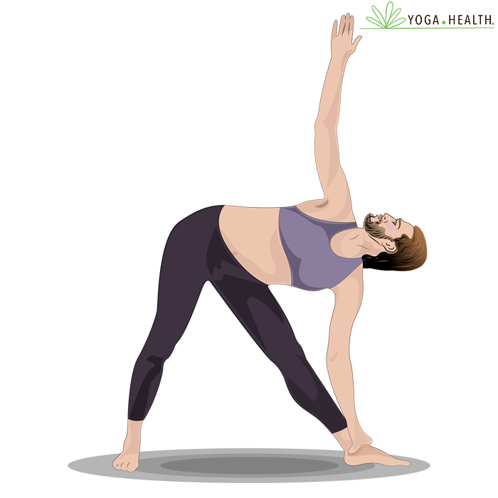 stand legs apart, feet perpendicular bending to grab one ankle with other hand in air