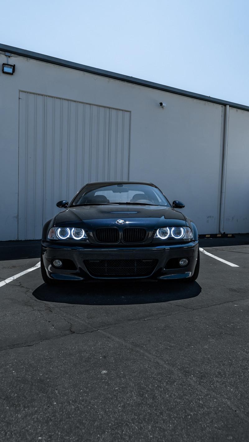 Halo angel eyes upgrade on a BMW E46 M3 at MDRN Retrofits