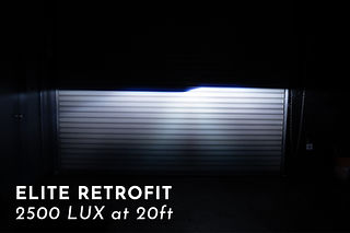 Elite Headlight Projector Retrofit Light Output at MDRN Retrofits in Costa Mesa, CA