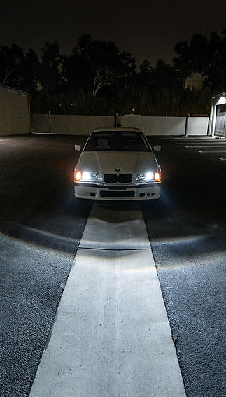 BMW E36 Pro Package Headlight Retrofit Completed at MDRN Retrofits