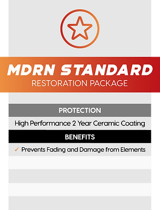 MDRN Retrofits Standard headlight restoration package service