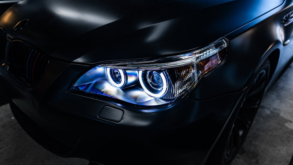 BMW E60 M5 Halo Angel Eye projector Elite Headlight Retrofit by MDRN Retrofits