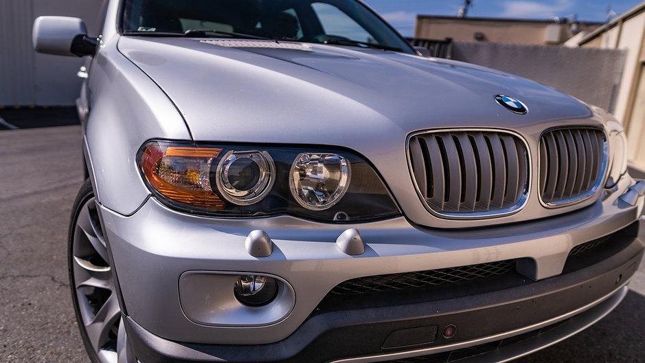 BMW X5 SUV Headlight Restoration with Carpro Ceramic Coating by MDRN Retrofits in Orange County, CA