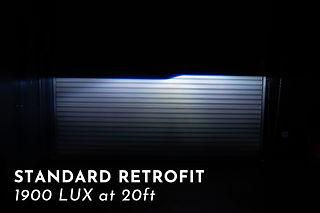 Standard Headlight Projector Retrofit Light Output at MDRN Retrofits in Orange County, CA