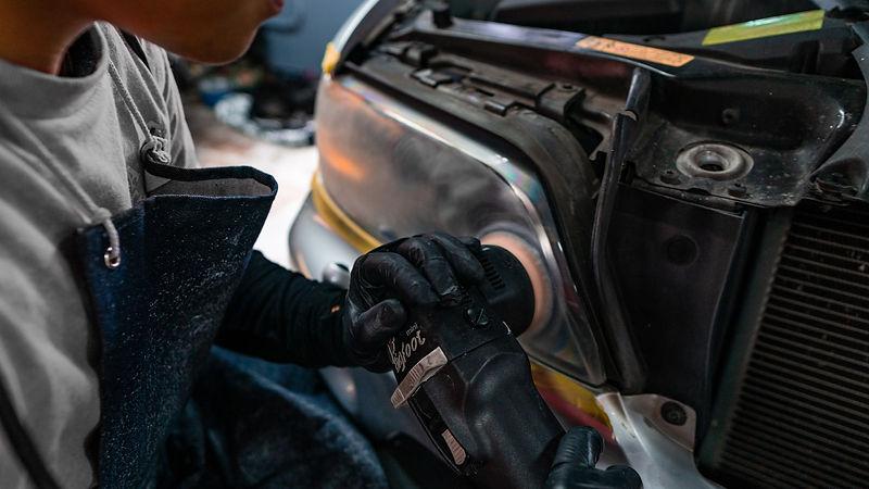 BMW X5 Headlight restoration with ceramic coating by MDRN Retrofits in Orange County, CA