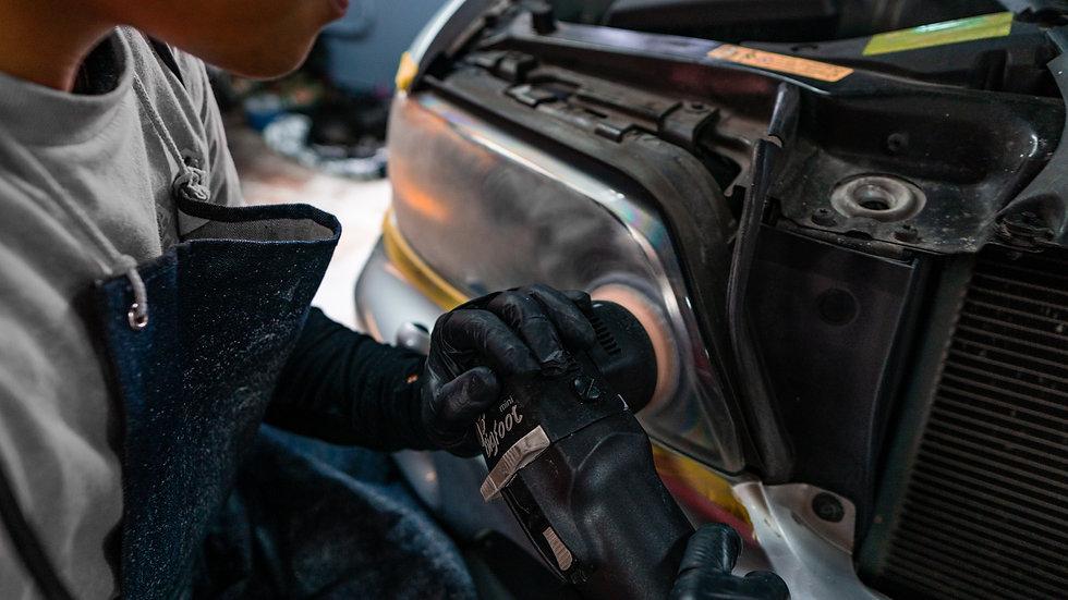BMW X5 Headlight Restoration with Ceramic Coating at MDRN Retrofits