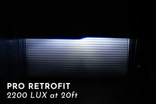 Pro Headlight Projector Retrofit Light Output at MDRN Retrofits in Orange County,CA