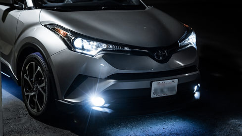 Toyota C-HR Headlight HID Kit with LED Bulbs installed at MDRN Retrofits