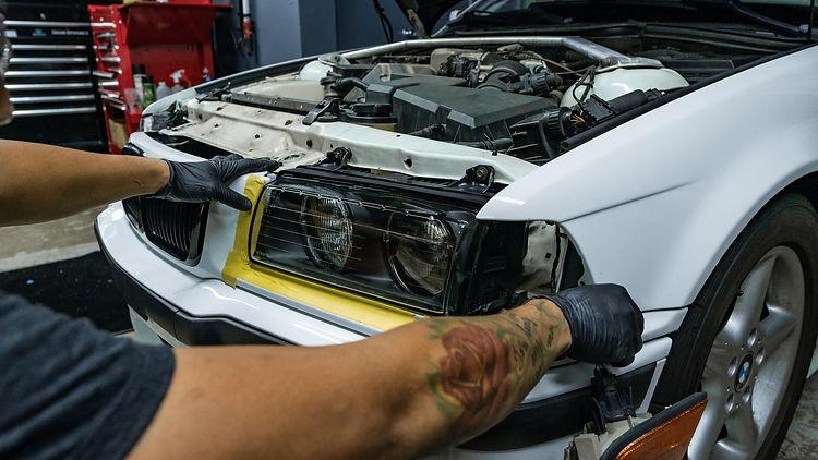 BMW E36 Headlight Retrofit Morimoto Install at MDRN Retrofits