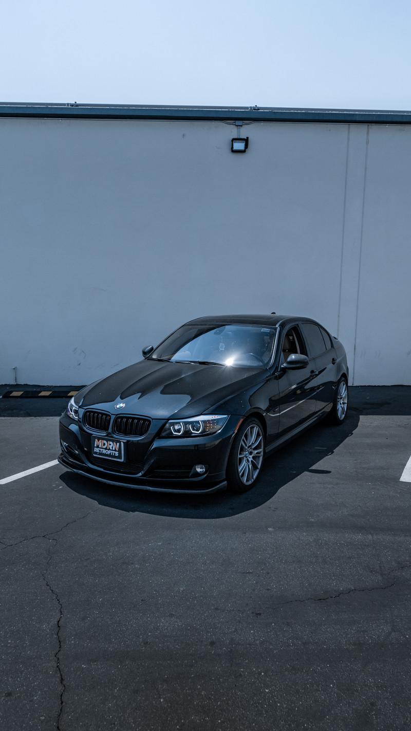 BMW E90 LCI 3 Series DTM halo headlights installed by MDRN Retrofits in Orange County, CA