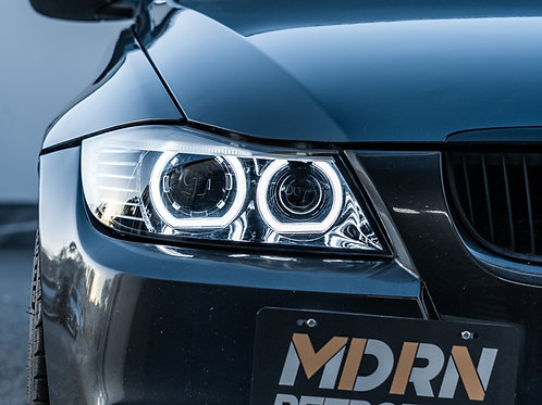 BMW E90 Pro Headlight Retrofit by MDRN Retrofits in Orange County, CA