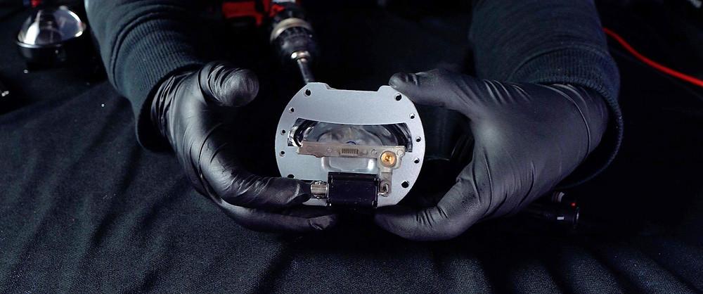 Morimoto Bi xenon High Beam shutter mini H1 8.0 at MDRN Retrofits