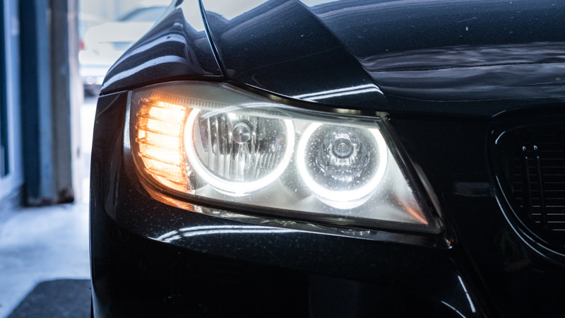 BMW E90 LCI LED Bulb Halo Upgrade installed at MDRN Retrofits
