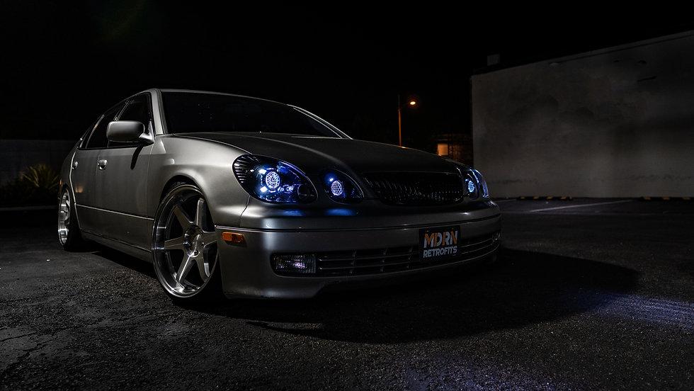 2004 Lexus GS300/GS430 Elite S3 headlight retrofit by MDRN RETROFITS