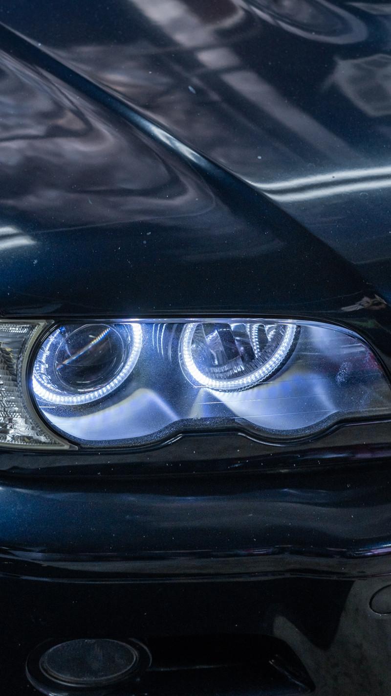 BMW E46 M3 Orion V2 halos at MDRN Retrofits