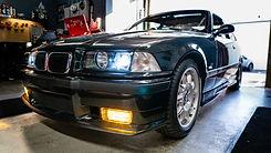 BMW E36 M3 with Morimoto HID kit and DEPO headlight install at MDRN retrofits