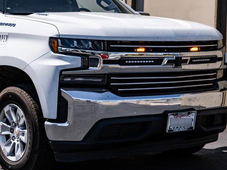 Silverado Work Truck Gets Hidden LED Strobe Lights