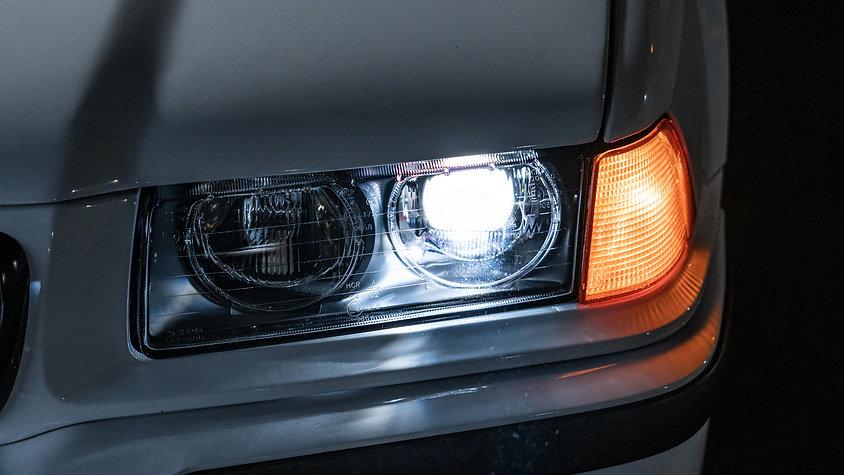 BMW E36 Euro Ellipsoids Headlights with Pro Package Headlight Retrofit at MDRN Retrofits