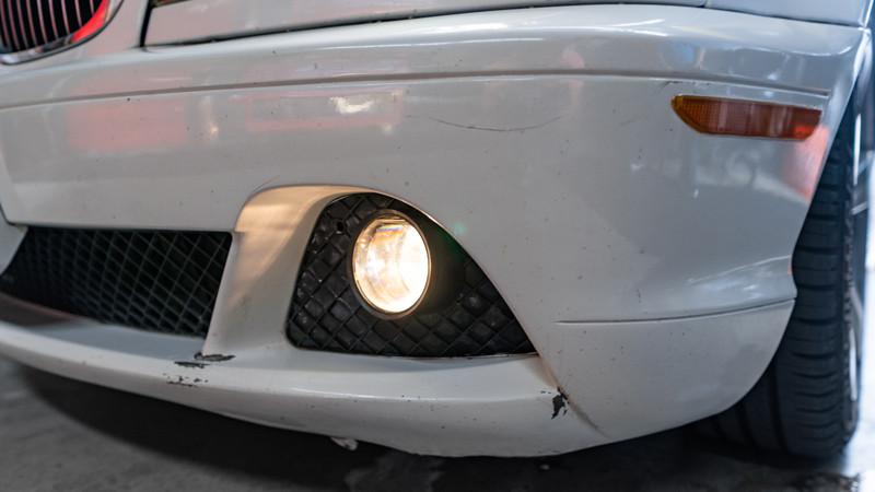 2004 BMW E46 foglights after restoration at mdrn retrofits