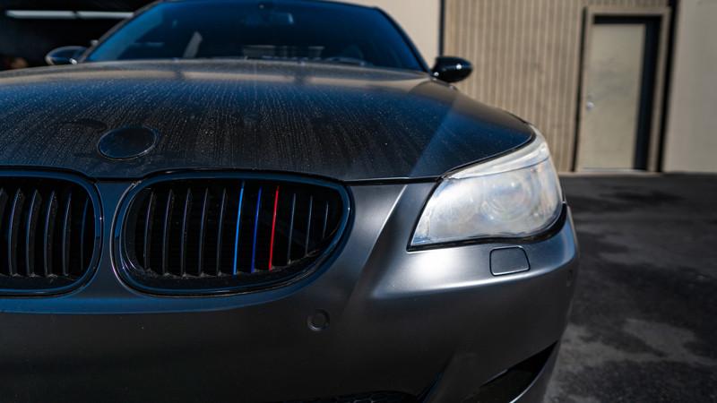 OEM BMW E60 M5 headlights at MDRN retrofits