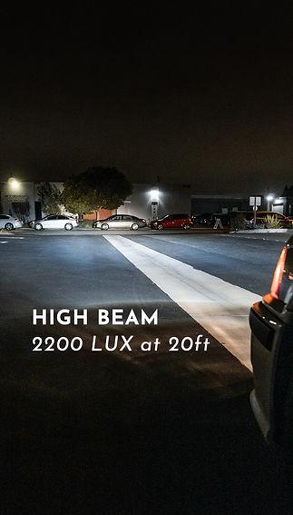 BMW E36 Headlight Retrofit High Beam Output reading at MDRN Retrofits