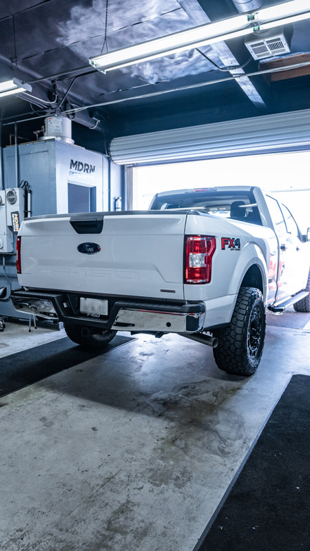 2020 Ford F-150 with halogen tail lights at MDRN Retrofits