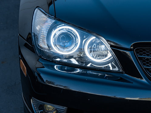 Lexus IS300 Standard Halo Headlight Retrofit by MDRN Retrofits in Orange County, CA