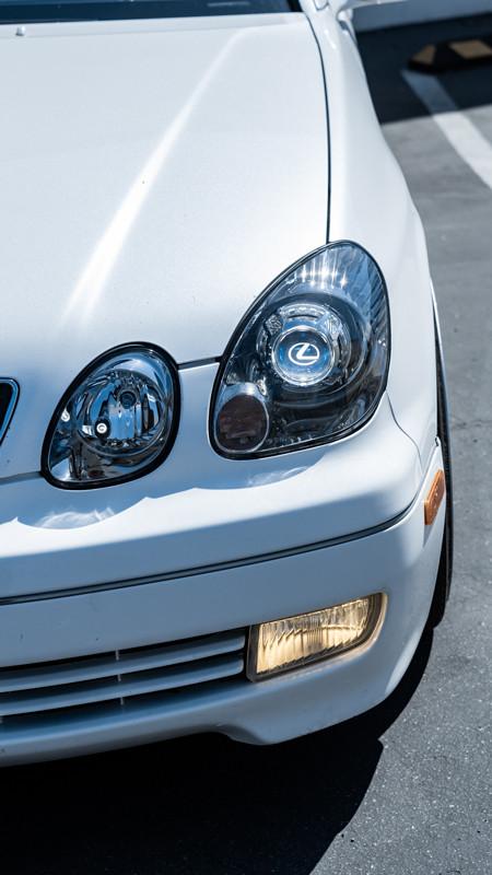 OEM Plus headlight retrofit on a GS300 completed at MDRN Retrofits