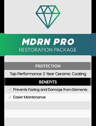 MDRN Retrofits Pro headlight restoration package service