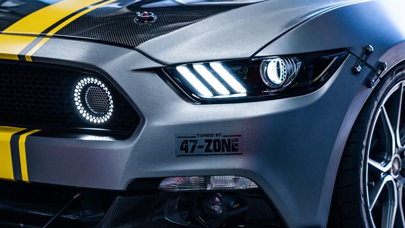 S550 Mustang GT close up of lighting at mdrn retrofits