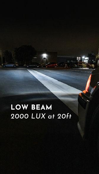 BMW E36 Headlight Retrofit Low Beam Output reading at MDRN Retrofits